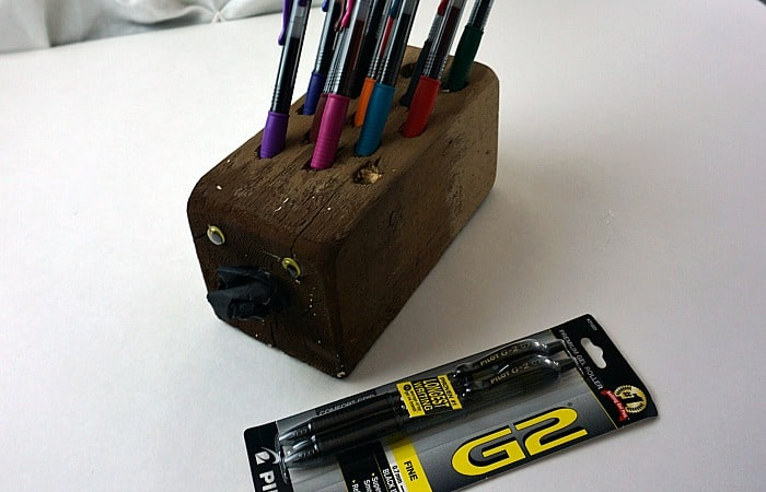 how to make a pencil holder that looks like a hedgehog fea