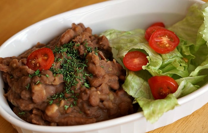 how to make refried beans like at a restaurant fea