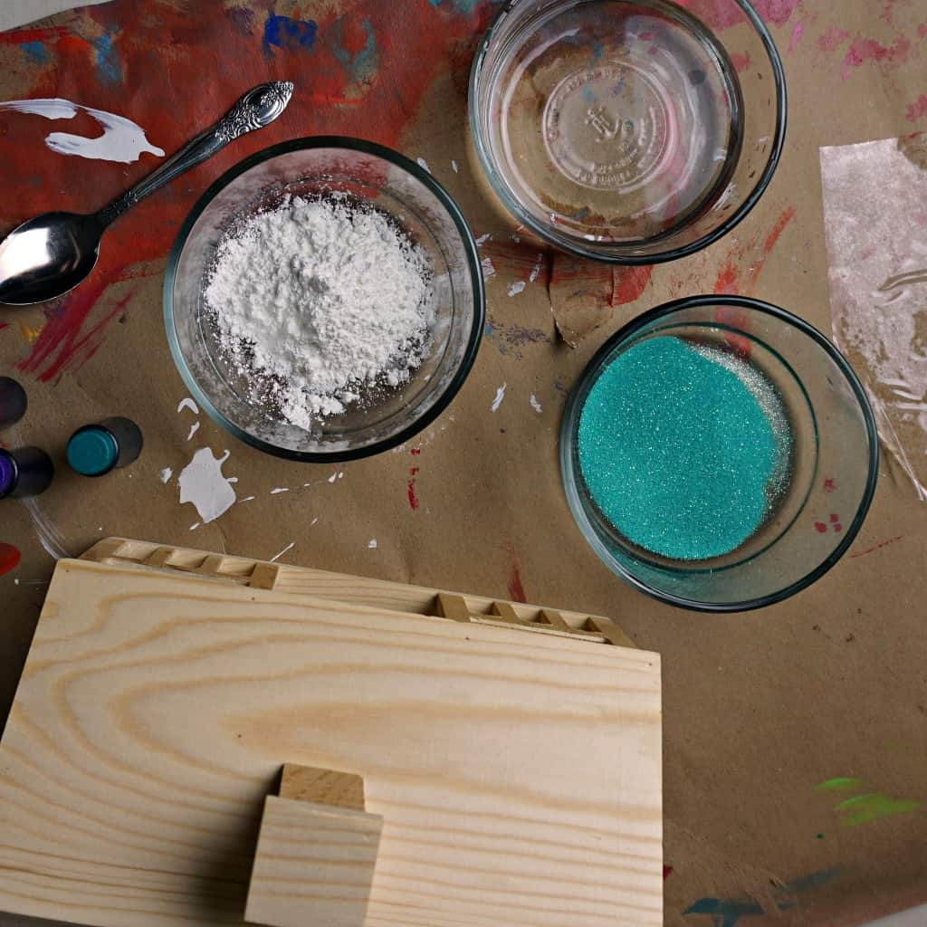 ingredients for making glitter paint for toddlers ing