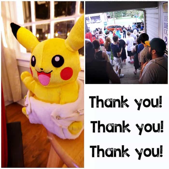 pokemon go event recap photo for diaper drive post