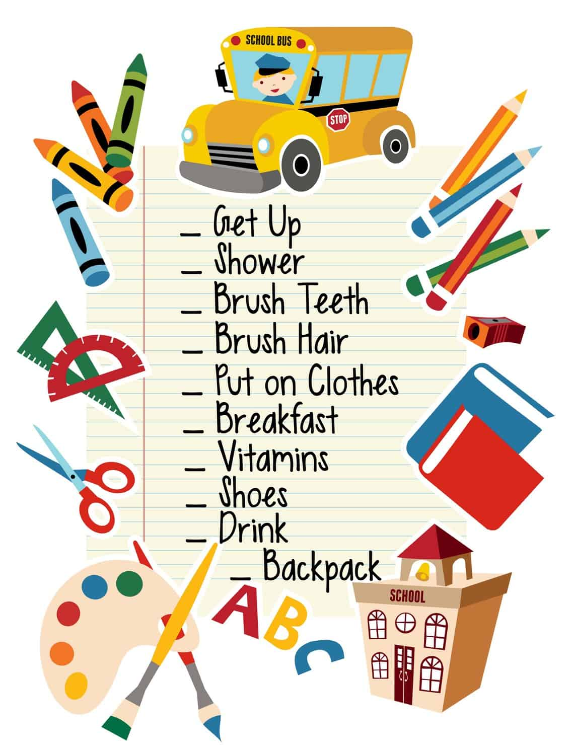 Easy Back To School Morning Routine With Free Printable