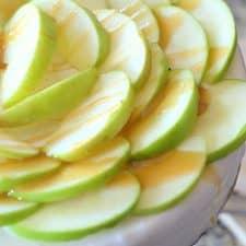 Vegan Caramel Apple Ice Cream Cake