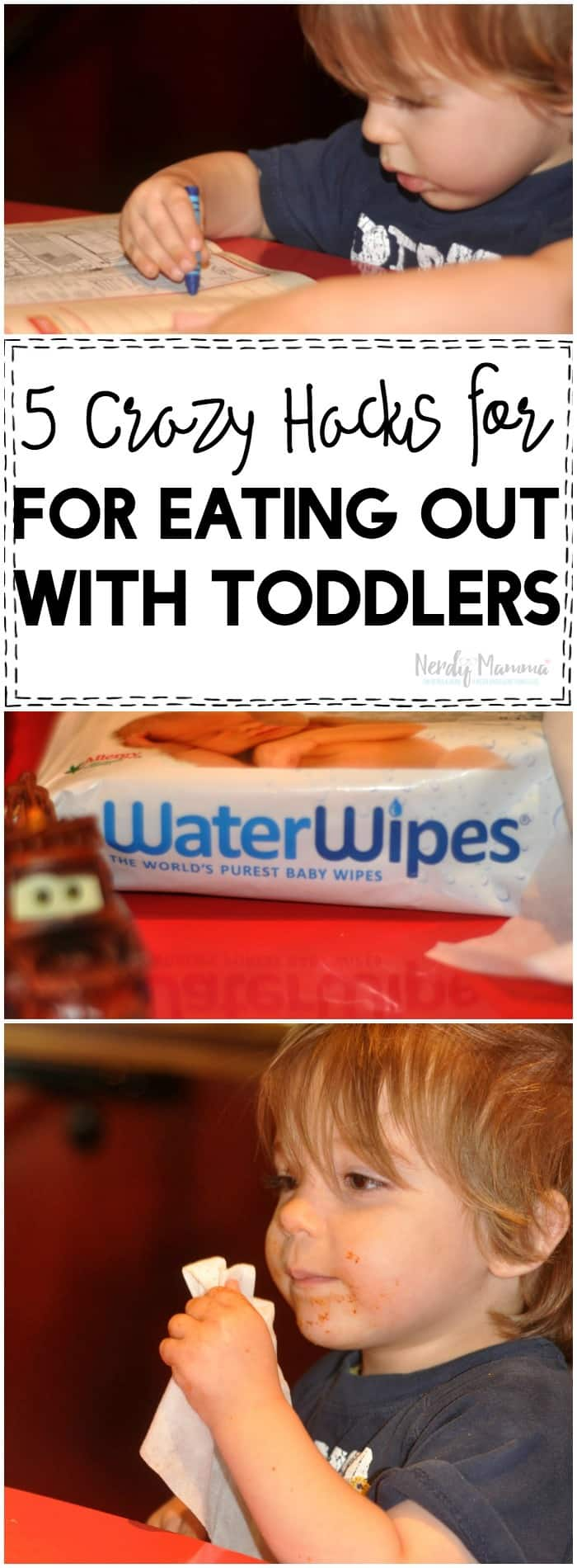 These 5 crazy hacks for eating out with toddlers make it SO easy to enjoy a meal out with your kids! I need every one of these hacks in my life!