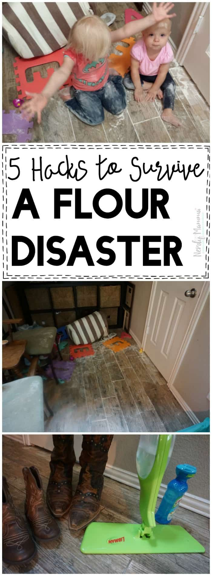 OMG I needed this when my kids made HUGE flour disasters!
