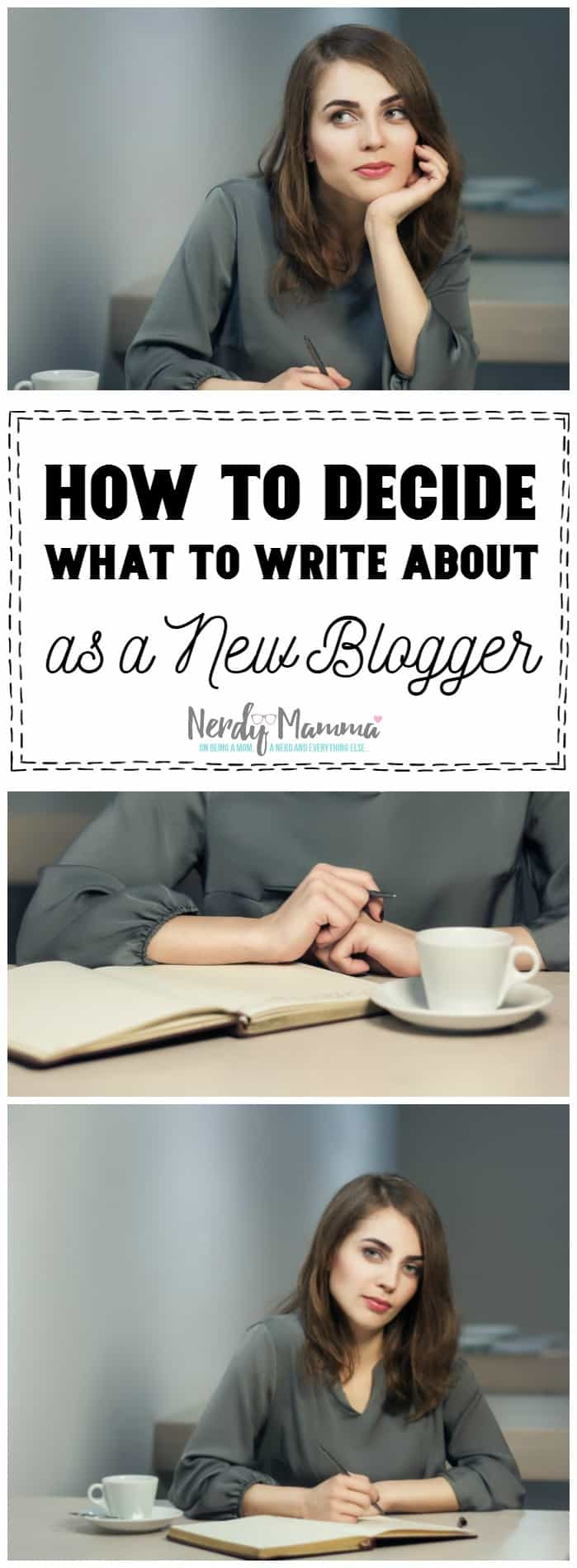 When you start blogging, it's hard to think of things to write about. After a while, you have SOO many ideas. This is a great post to start with and decide what you want to write about as a new blogger.