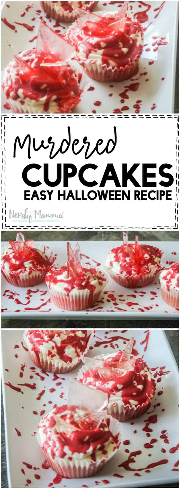 I have to make these Murdered Cupcakes for Halloween! How simple and easy. I love it.