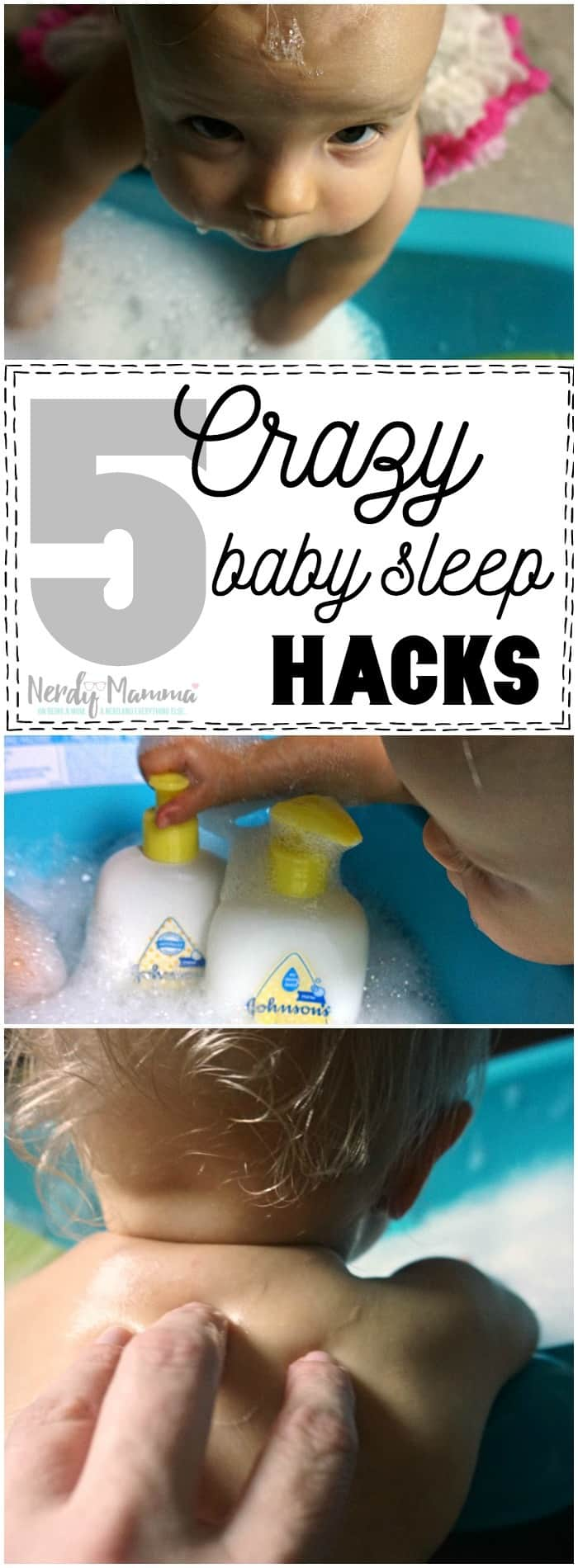I love these 5 Crazy Baby Sleep Hacks--this woman is a genius (well, now to see if they actually work). LOL!