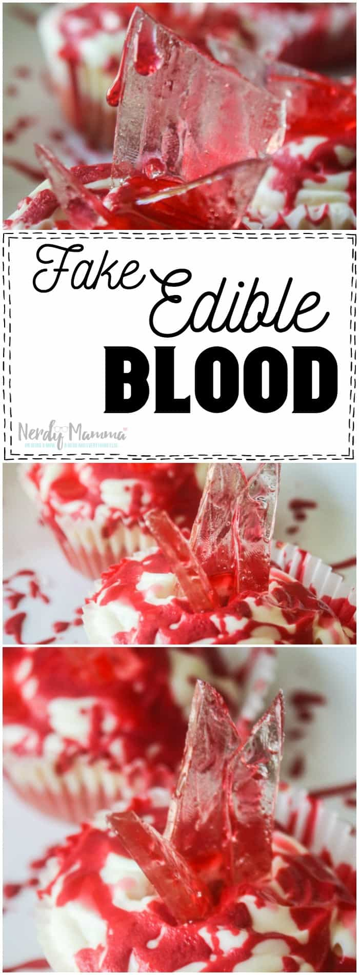 It never even occurred to me to make fake edible blood for cake decorating before! How genius! The kids are going to love it.