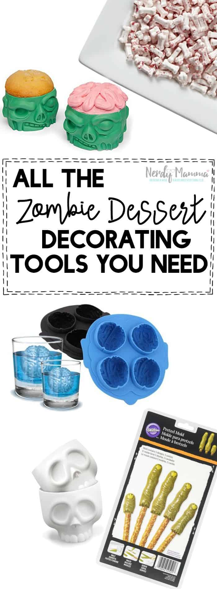 LOL! This is the best. It's all the zombie dessert decorating tools you could ever need. Perfect for Halloween.