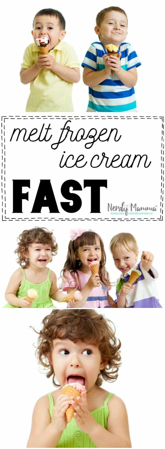 Now this is pure genius. I didn't know they made something like this. Now my kids won't yell and cry that I'm not getting their ice cream fast enough! Ha!