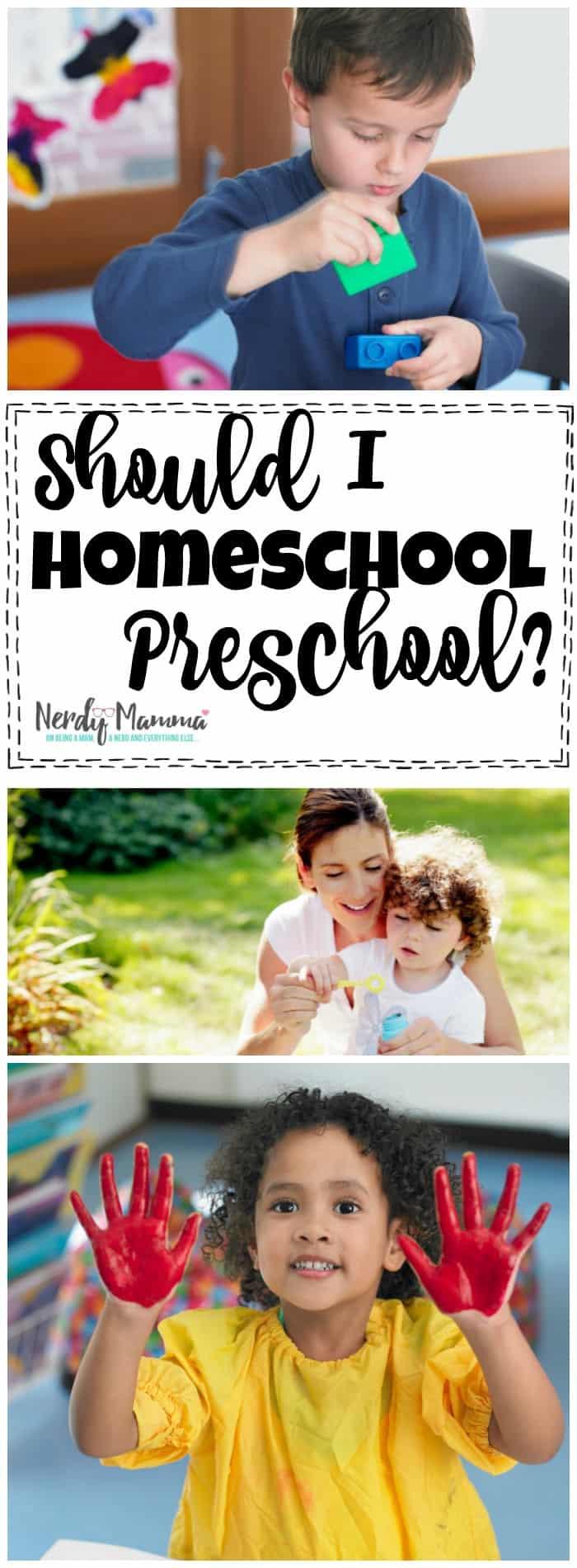 Should I homeschool preschool