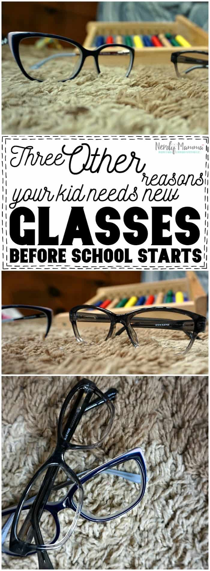 These 3 other reasons your kid needs new glasses before school starts Kind of brilliant--but also, something I should have thought of...smart.