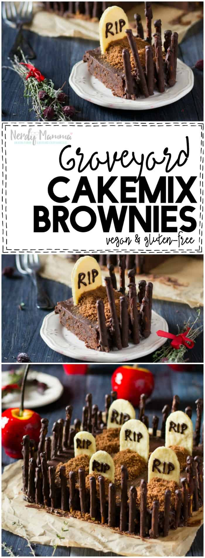 Graveyard Cakemix Brownies - Nerdy ...