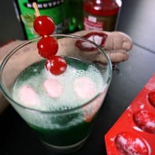 Adult Zombie Brain Float {a scary-cool cocktail}