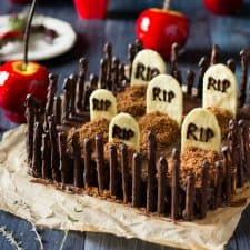 Graveyard Cakemix Brownies {gluten-free and vegan recipe}