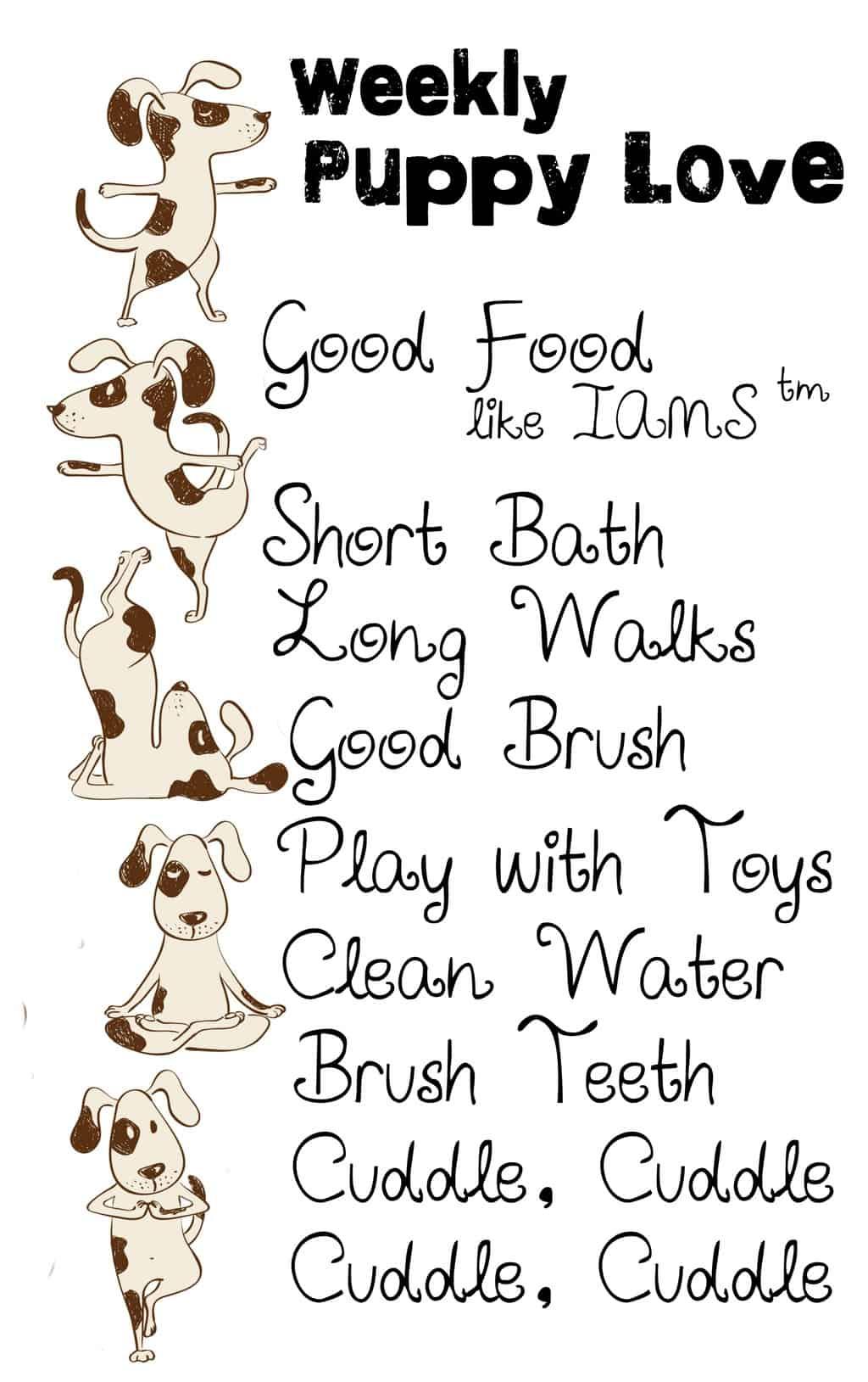 weekly-puppy-love-checklist