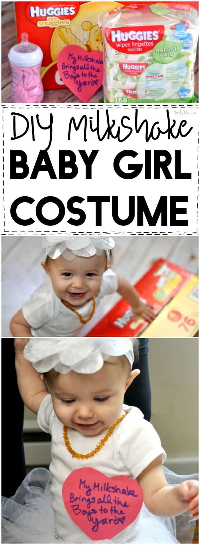 OMG! This DIY Milkshake baby girl costume is absolutely adorable!