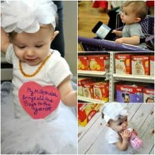 DIY Milkshake Baby Girl Costume