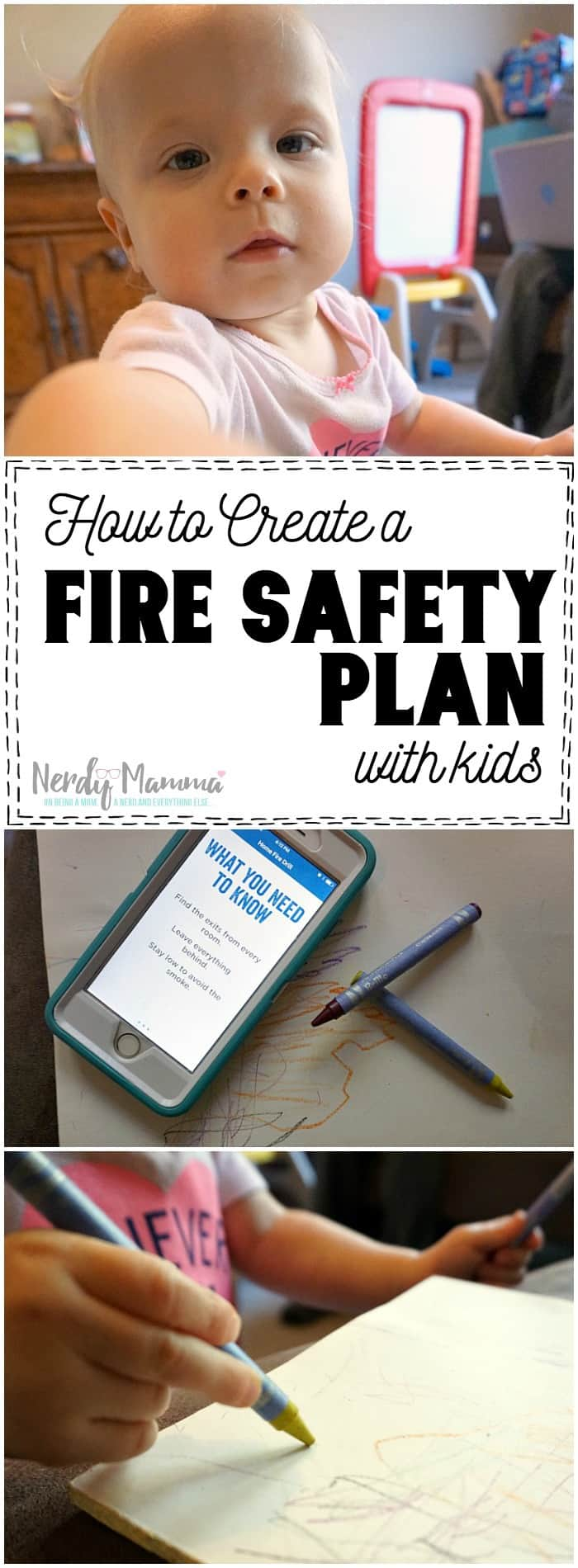 I love this quick tutorial on creating a fire safety plan with kids! So simple and fun.