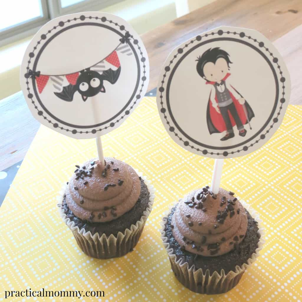 Vampire Cupcake Toppers