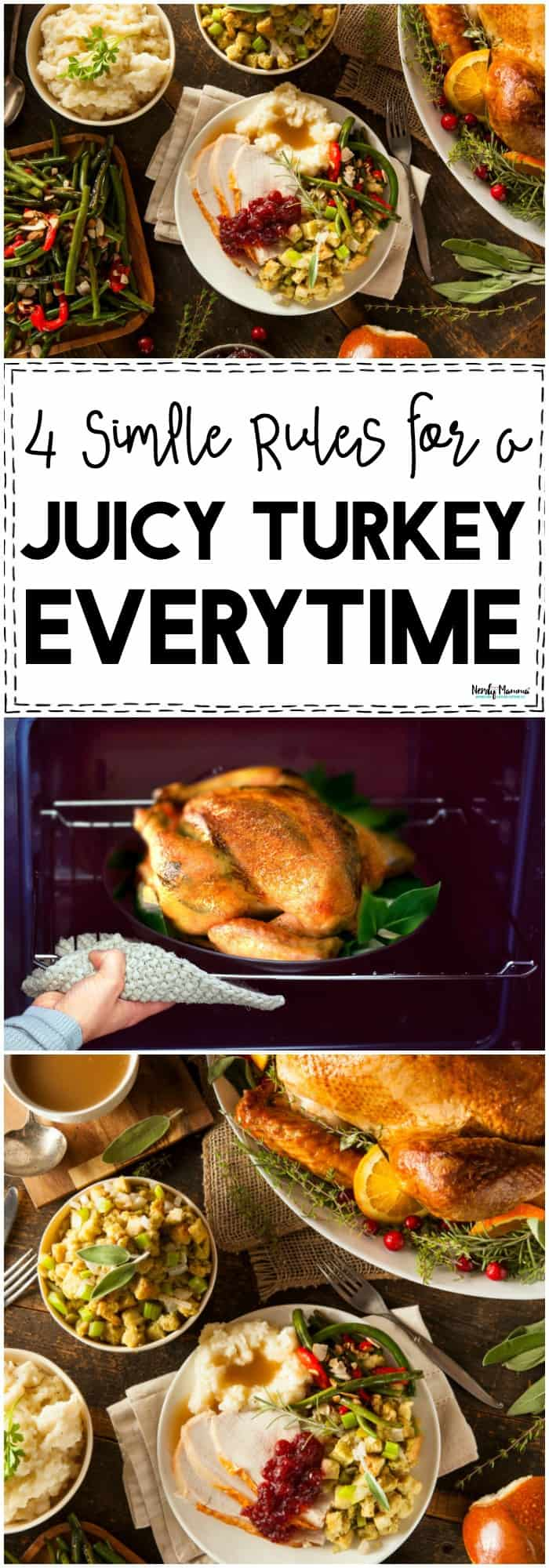 OMG You've GOT to check out these LIFE-SAVING Turkey tips! Get a juicy turkey every flipping time! Don't ruin Thanksgiving and dry out the turkey. Seriously, just check out these tips!!