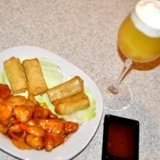 Mocktail Screwdriver and Orange Chicken, Restaurant Style