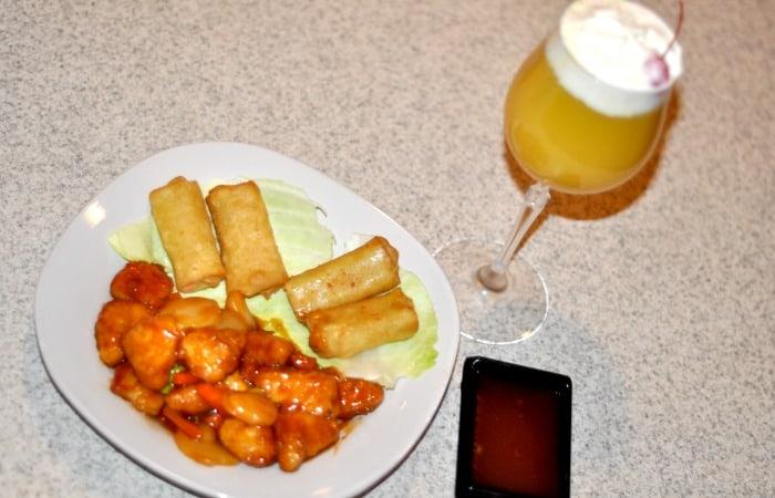 OMG! This mocktail is AMAZEBALLS! I LOVE this orange chicken too! Perfect date night recipe!