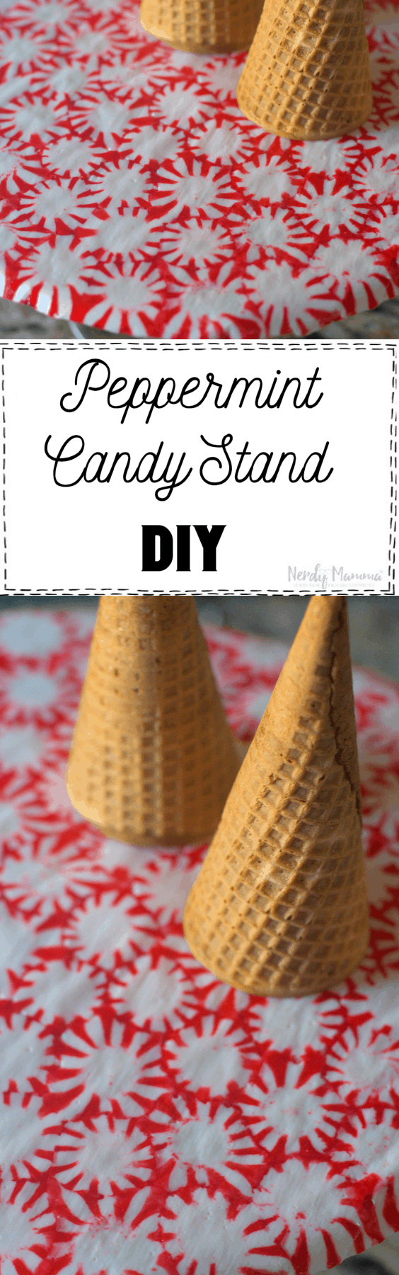 This Peppermint Candy Stand DIY is so cute and will seriously make your family and friends go WOW!