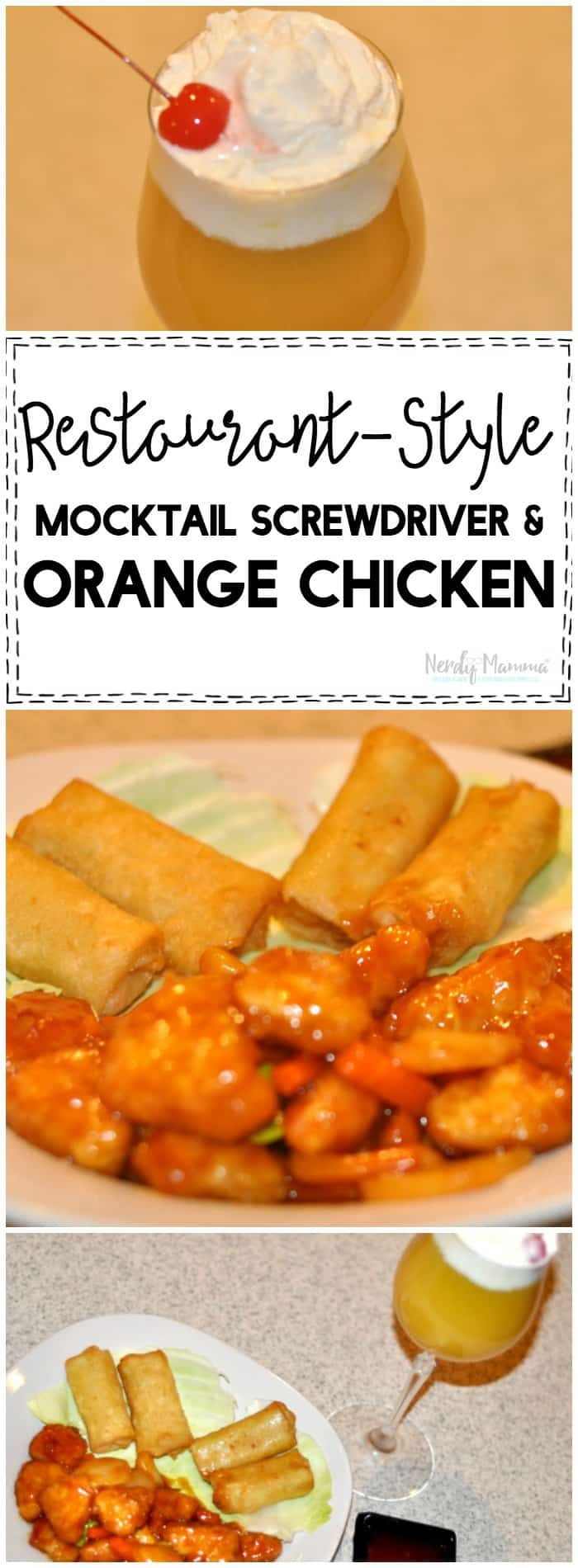 OMG! This mocktail is AMAZEBALLS! I LOVE this orange chicken too! Perfect date night recipe!