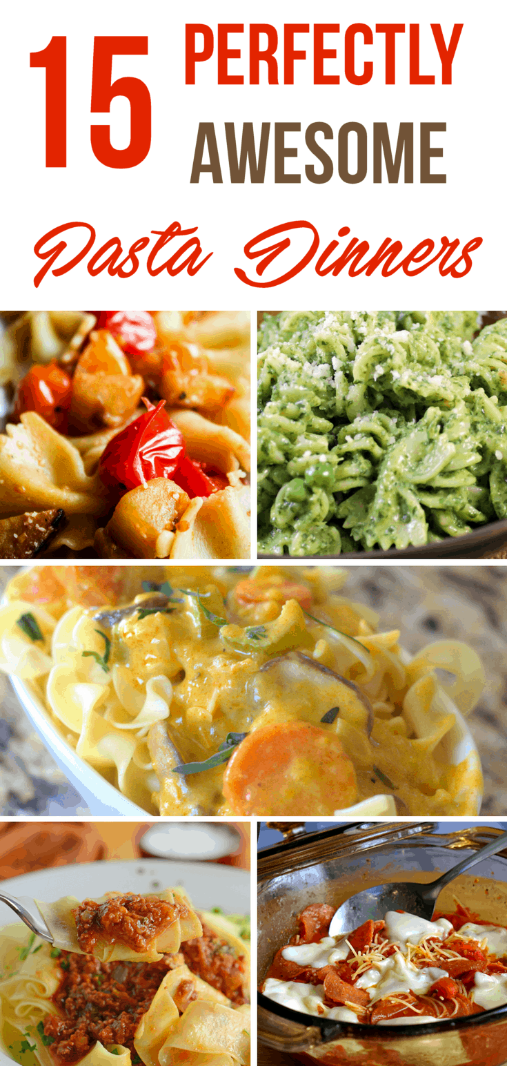Fifteen ideas for pasta dinners to blow your mind. Bet you didn't think we could find you this many super awesome ways to fancy up some noodles, did you?