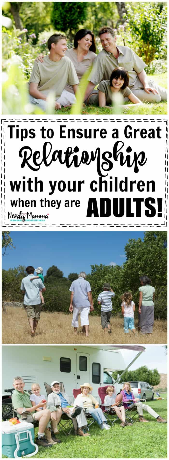 tips to ensure a great relationship with your children when they are adults