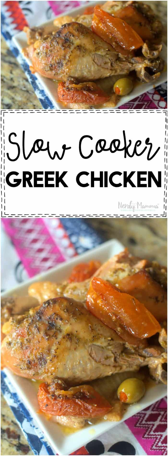 OMG! This slow cooker greek chicken is DELICIOUS and SO EASY!