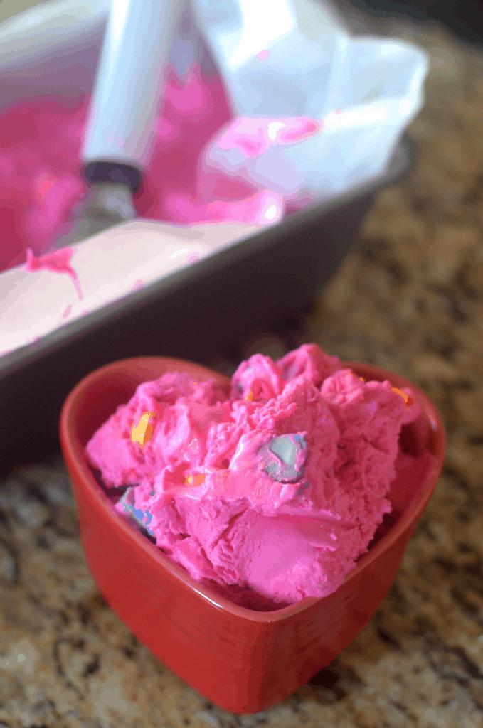 Conversation Heart Ice Cream