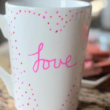 DIY Valentines Heart Mug