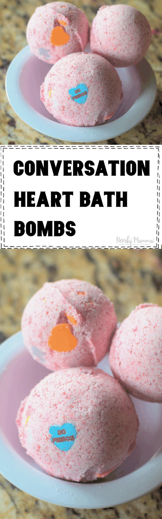 Conversation Heart Valentine's Bath Bombs
