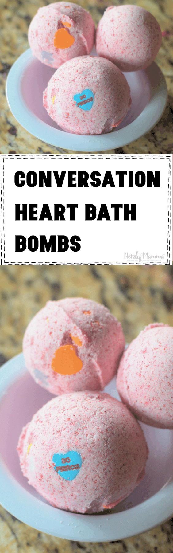 Conversation Heart Valentine's Bath Bombs