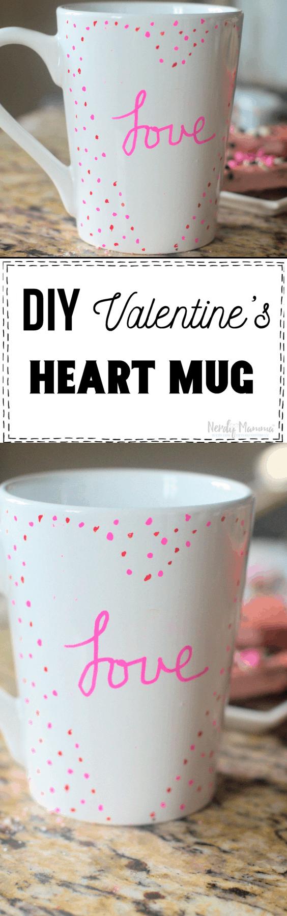 DIY Valentine's Heart Mug