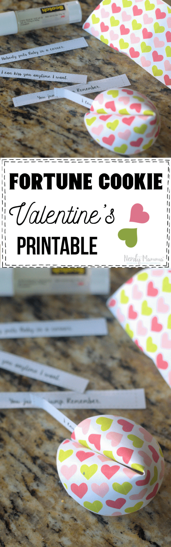 Fortune Cookie Valentine's Printable