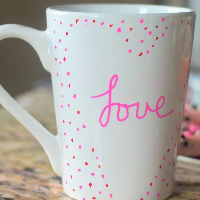 Ridiculously Cute And Simple DIY Mug for Valentines Day!