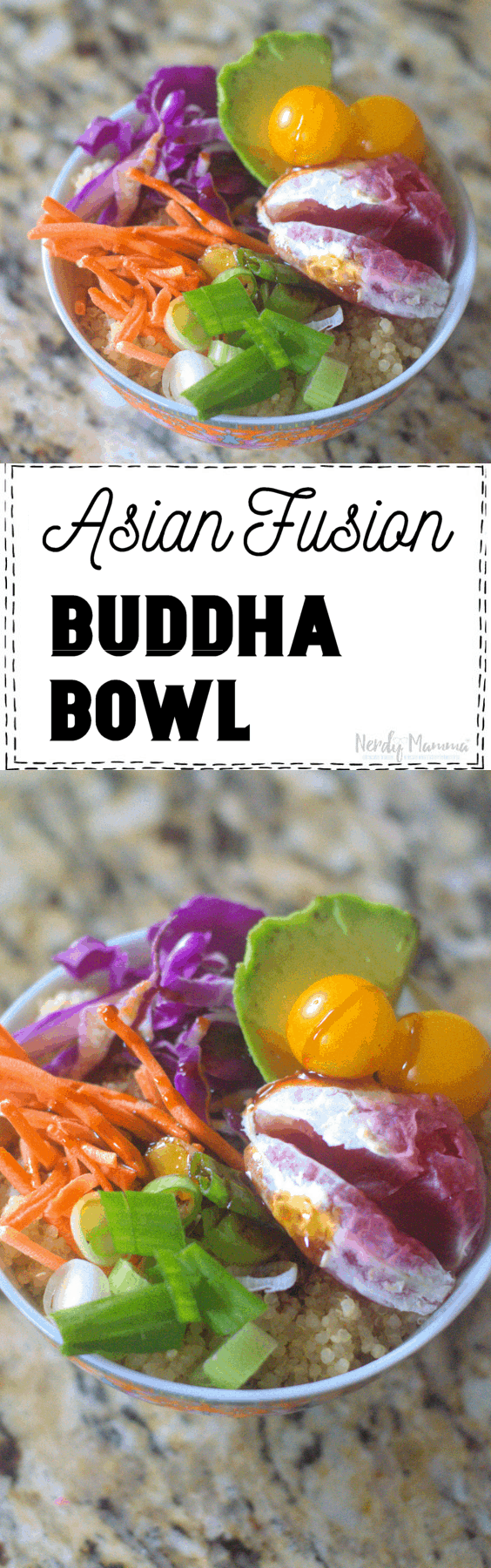 Asian Fusion Blood Orange Buddha Bowl