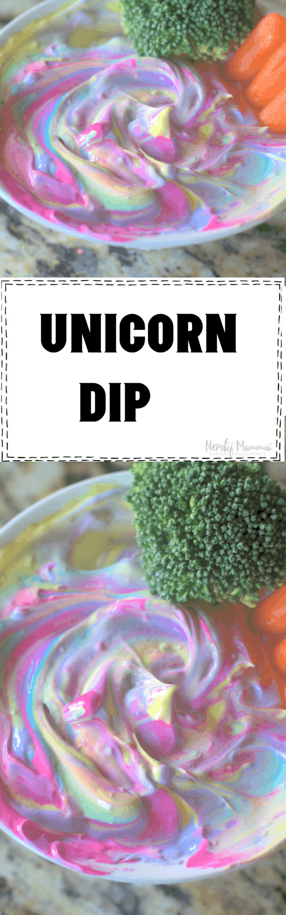 The French Onion Dip you never knew you needed. It's Unicorn Dip. The perfect accompaniment to any broccoli, carrot, chip, whatever. No, really, it's perfect. It's a unicorn product. And everything they make is so awesome, you can't even. #nerdymammablog #unicorn #unicornfood #funfood #UnicornParty #foodforUnicornParty #ridiculousfood #sillyfood #kidfood #frechoniondip