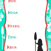 Moana Inspired Printable Party