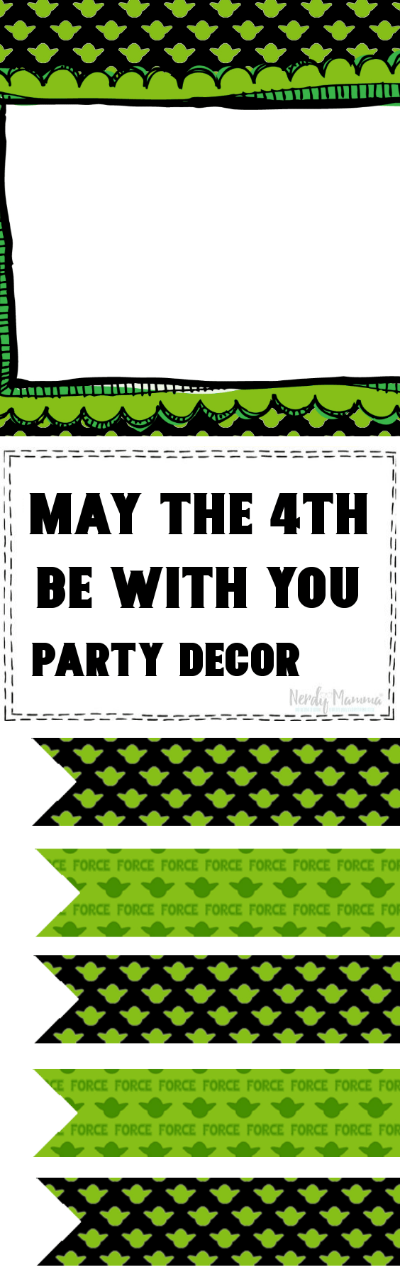 May The 4th Be With You Party Decor