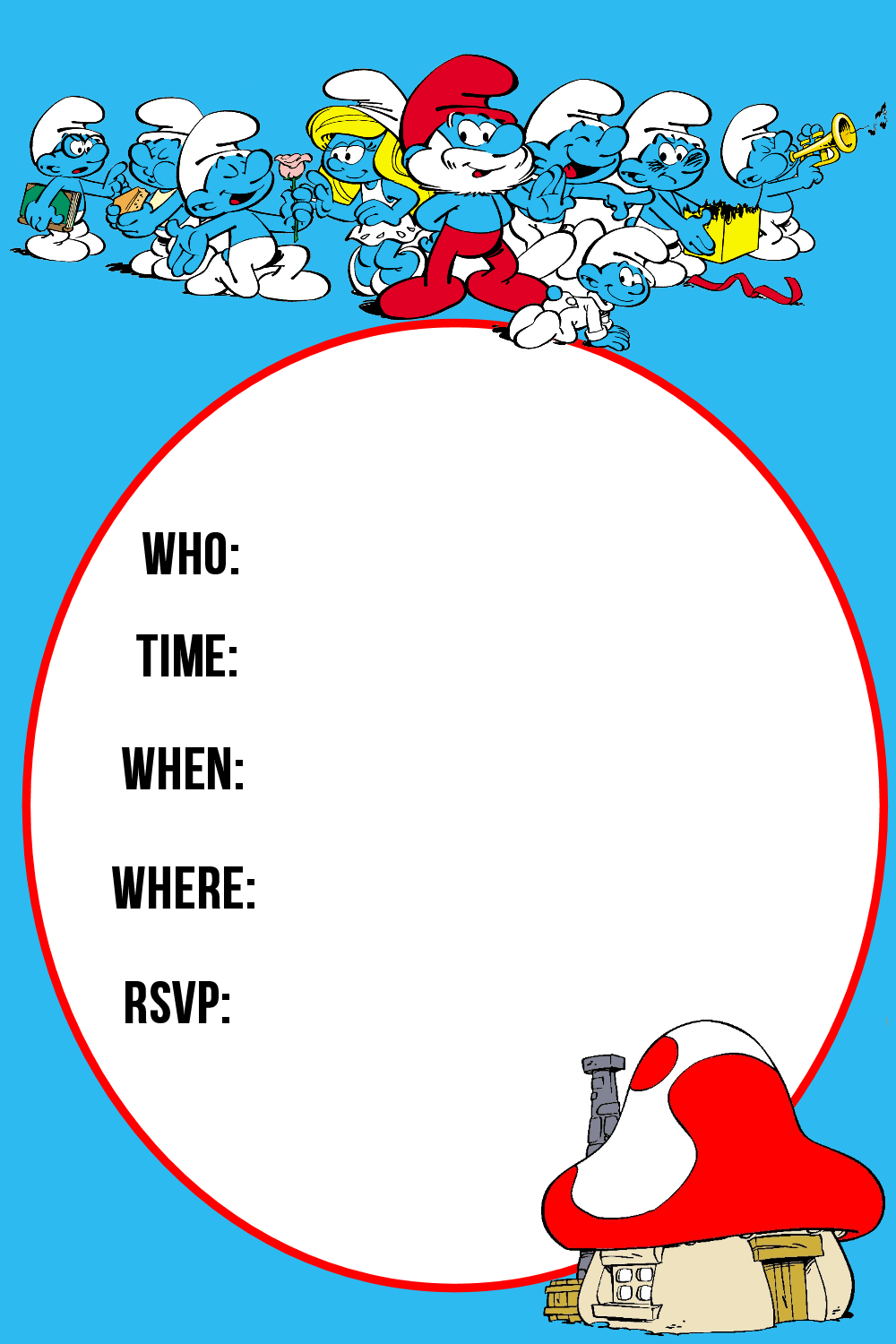 Smurfs Printable Party Pack Nerdy Mamma