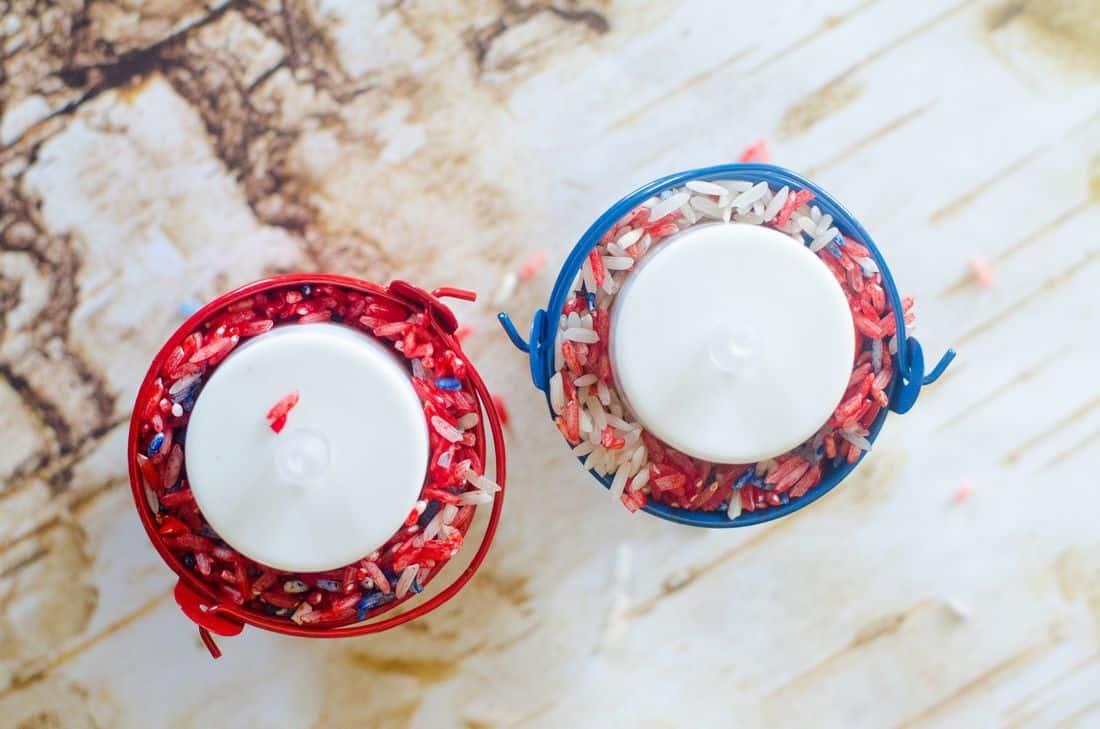 4th of July Mini Light Pails