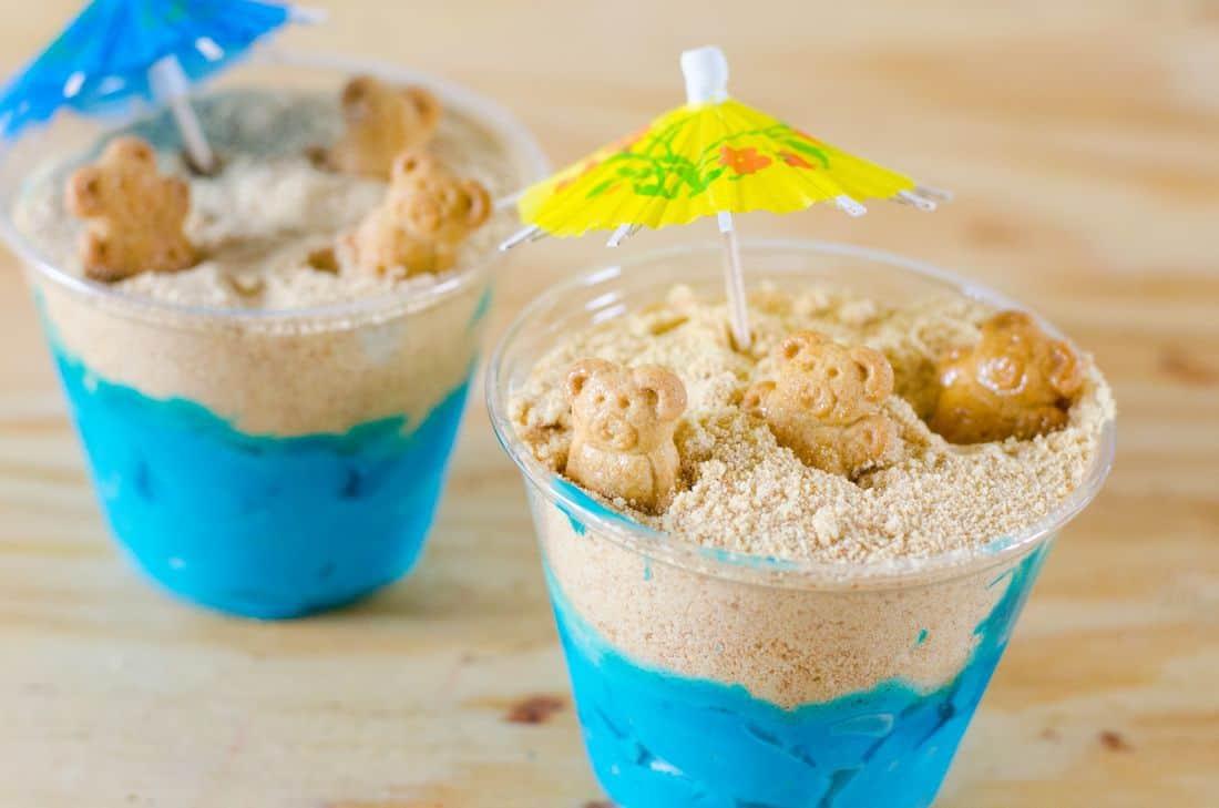 Sand Bucket Beach Bears Cups