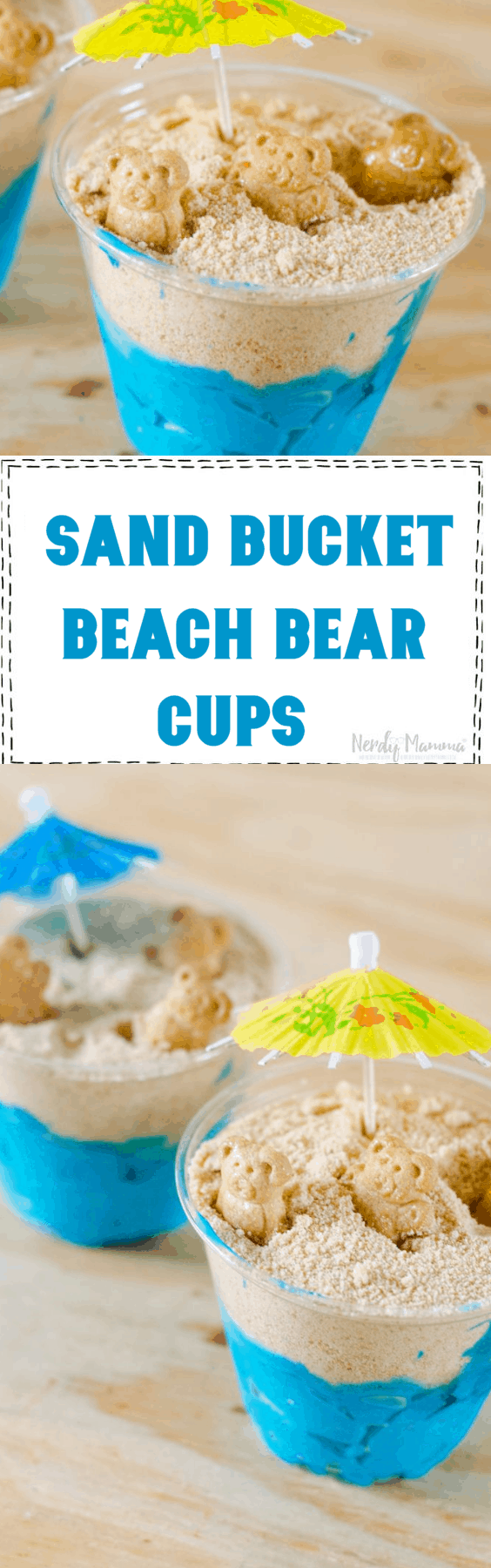 Sand Bucket Beach Bears Cups