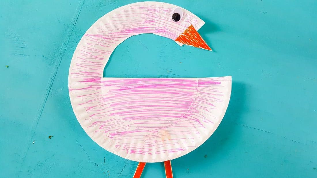 Flamingo Paper Plate Craft Nerdy Mamma