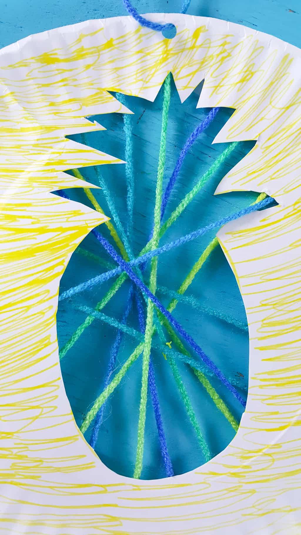Pineapple Suncatcher Craft from Nerdy Mama