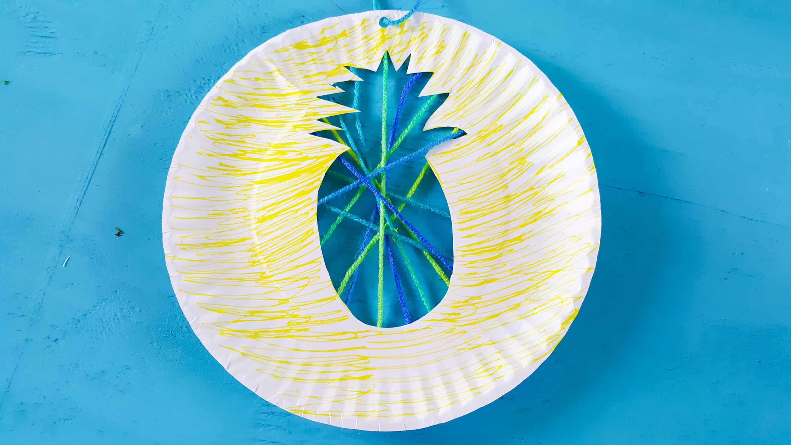 Pineapple Suncatcher Paper Plate Craft